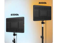 33900 2x LED Studiolicht mit Stativ