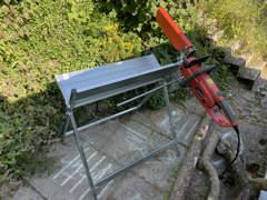 34141 Elektro-Kettensäge mit Sägebock