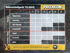 34728 Proxxon TSG 250/E / Tellerschleifer