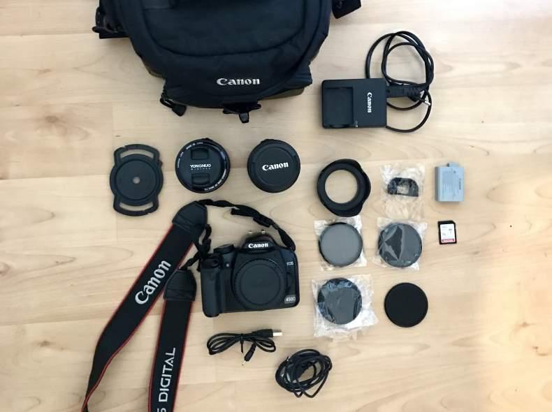 3926 Canon EOS 450D Spiegelreflexkamera