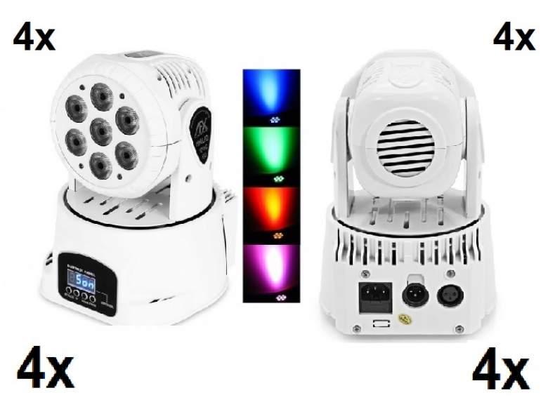 4841 Set 4x LED Moving Head Lichteffekt