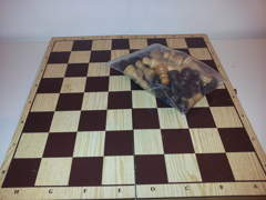 108 Backgammon/Schachbrett