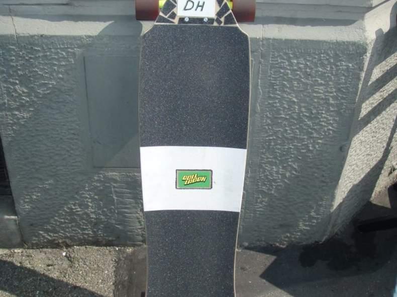 286 Longboard vom Rollladen