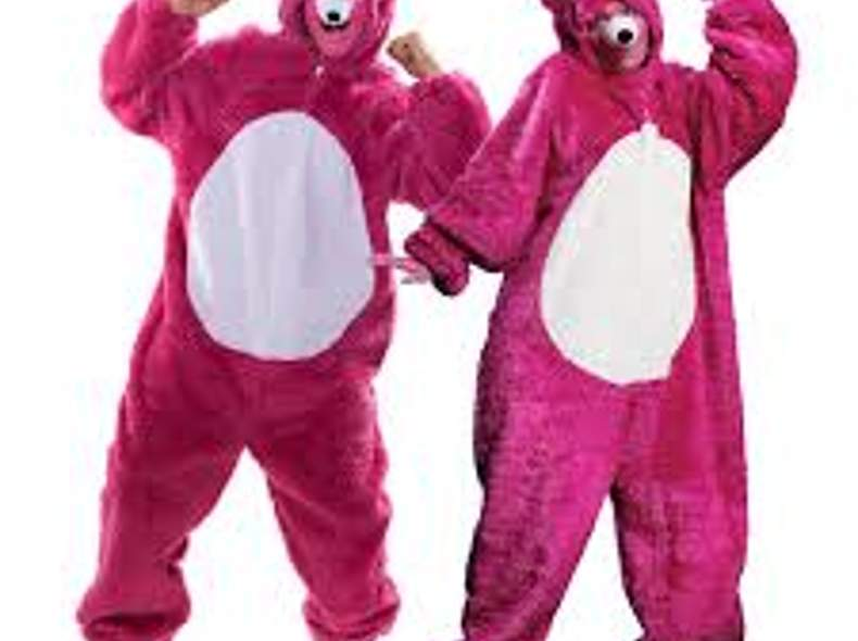 901 Kostüm Bär pink