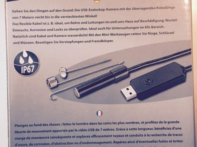 1249 USB Endoskop-Kamera