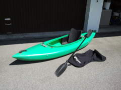 1800 Kayak 1er mit Paddel & Spitzschutz