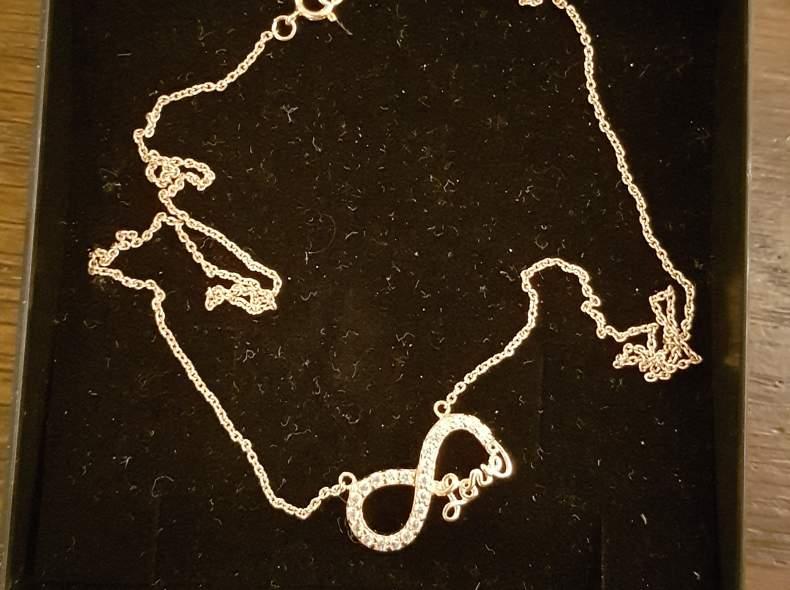 12872 Halskette Infinity Love rosegold