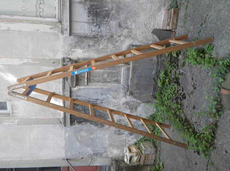 5772 Holz Bockleiter 8 Sprossen