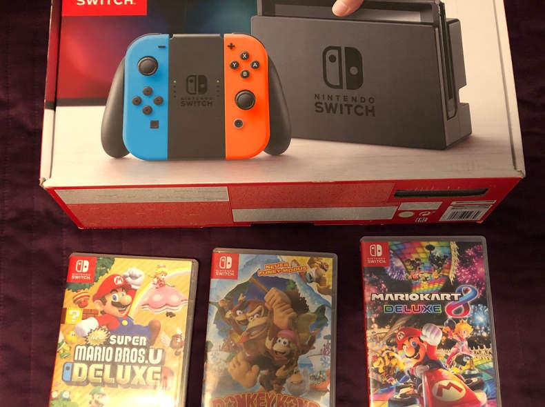 16311 Nintendo Switch inkl. 3 Spiele