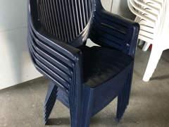 17759 Gartenstühle Blau&Weiss