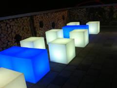 17860 LED Lounge Würfel, 4x Sitz,2x Tisch