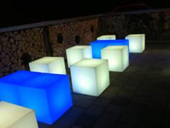 17893 LED Lounge Würfel, 10 Sitz, 4 Tisch