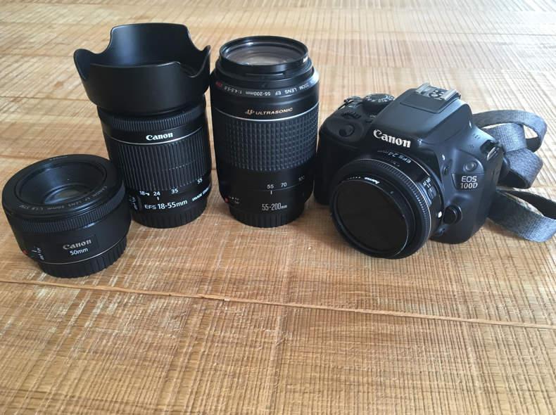 18691 Canon EOS 100d (4 Objektive)