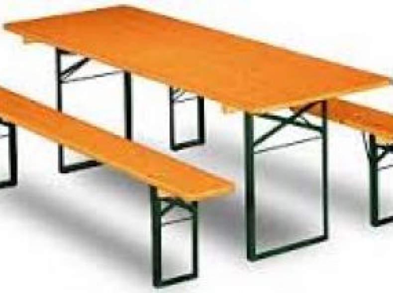 5847 Festbankgarnitur 1 Tisch + 2 Bänke