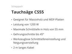 22595 Scheppach Tauchsäge