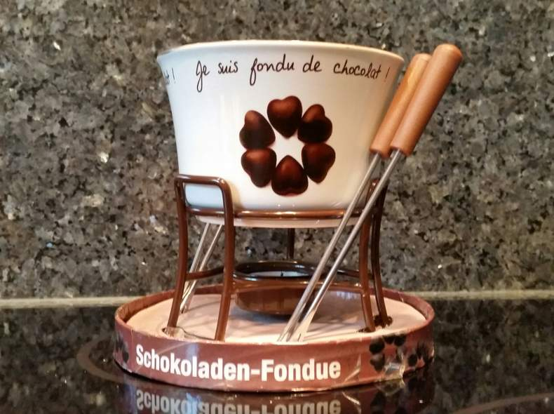 23492 Schoggi- Fondue Set