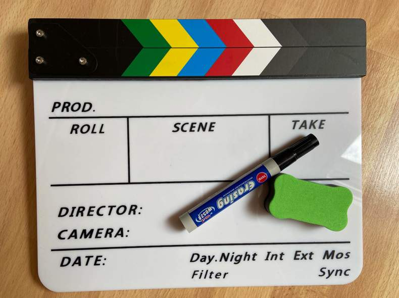 24435 Filmklappe inklusive Stift