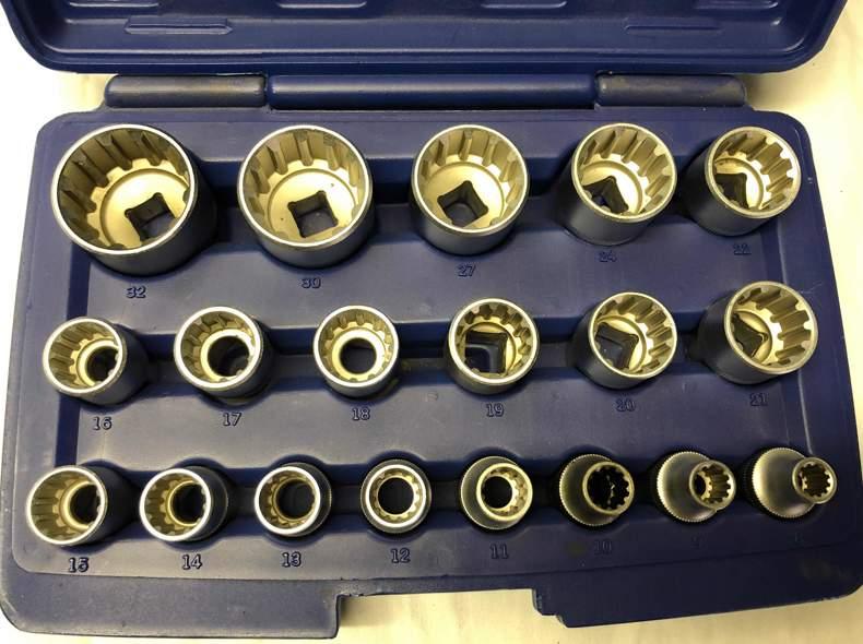 25370 Vielzahn Nüsse von 8 bis 32mm