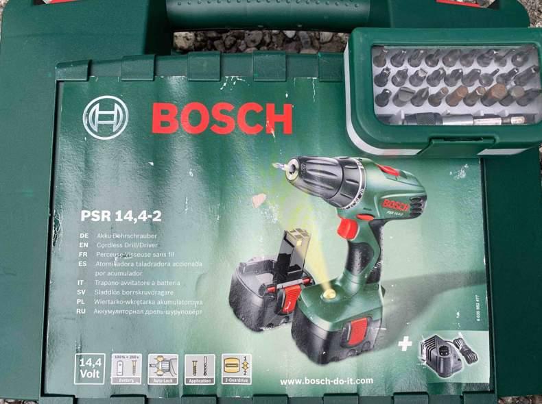 25615 Bosch Akku-Bohrer inkl. Ausatz-Set