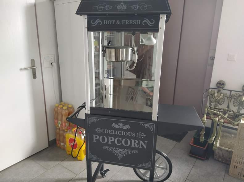 25814 Popcorn Maschine mit Wägeli