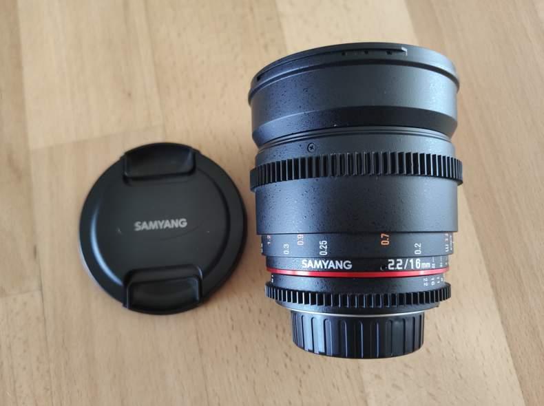 26300 Samyang 16mm, 2.2, cine lens