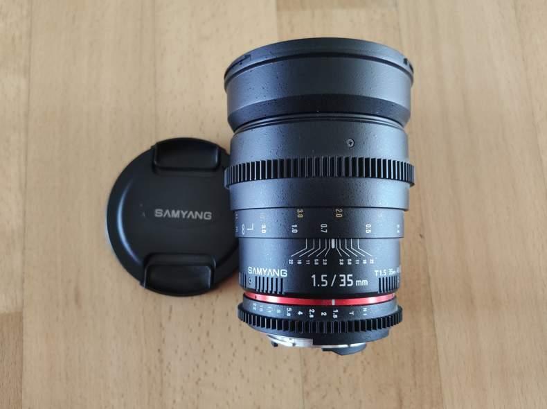 26301 Samyang 35mm, 1.5, cine lens