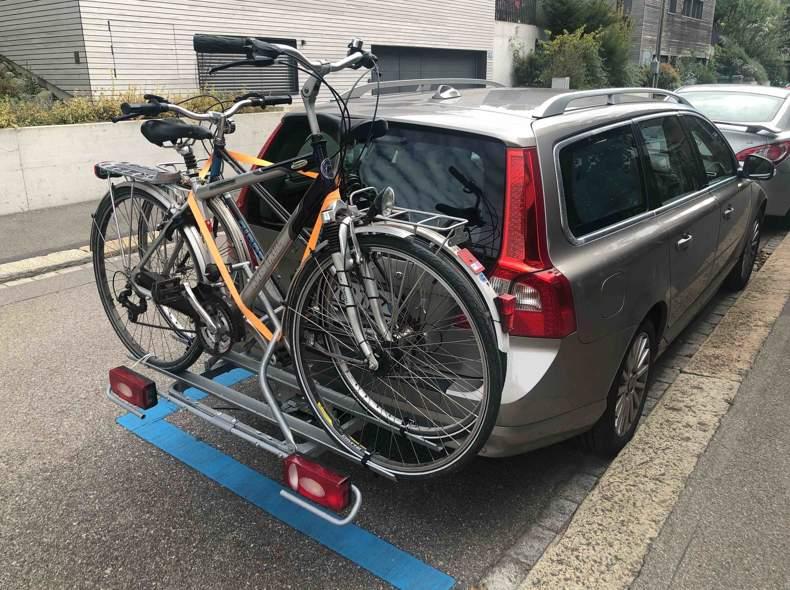 26978 Fahrrad Autoanhänger für 2 Velos