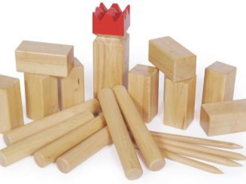 6485 Kubb - Schwedenschach Holzwurfspiel