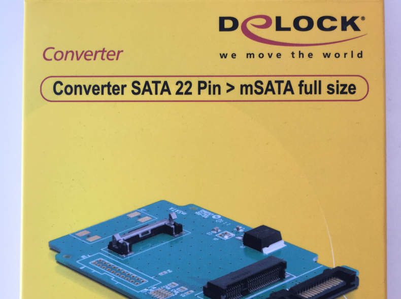 7308 Converter SATA 22 Pin  mSATA full