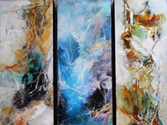 7581 5 Kunstbilder Leinwand, Acryl