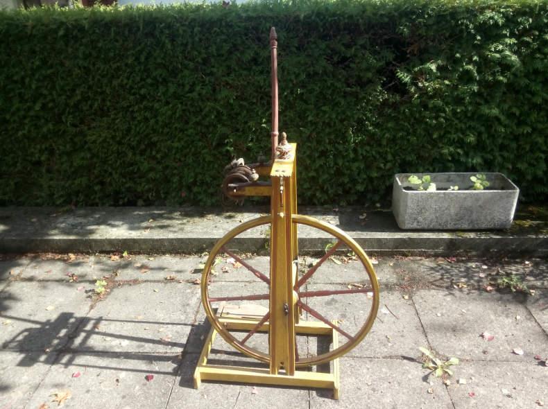 7638 antikes Spinnrad von 1802