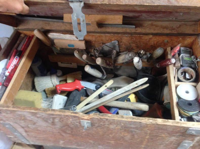 7717 Maurerkiste Werkzeug