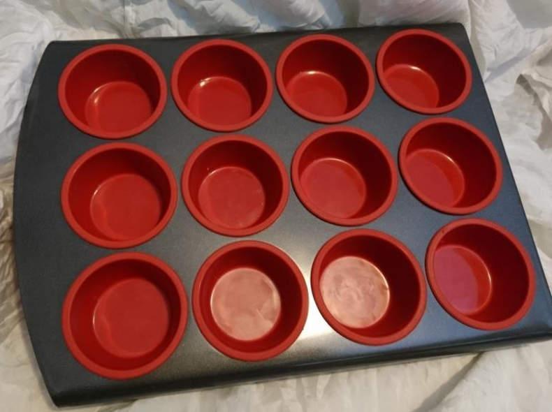 8054 Silikon Muffin Formen mit Blech