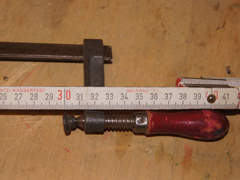8119 Schraubzwinge leicht 30cm