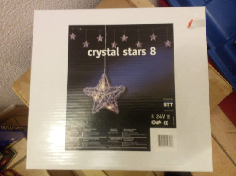 8144 Lichterkette indoor crystal stars 8