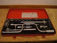 8179 Steckschlüsselsatz (rot)