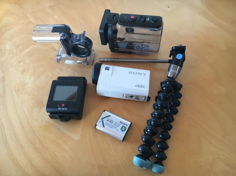 8461 Sony FDR-X3000 4K Actioncam+Zubehör