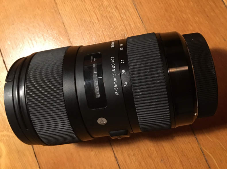 8601 Sigma 18 - 35 mm 1.8