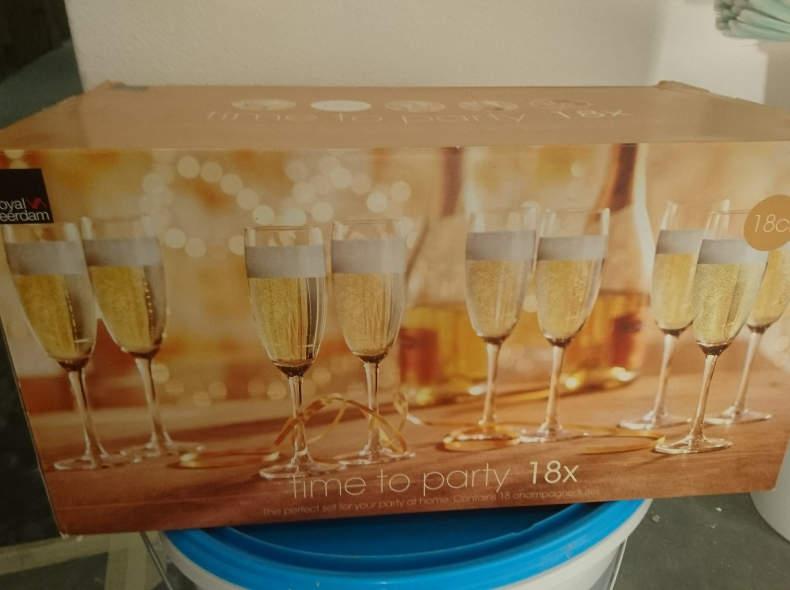 8757 Champagner Sekt Prosecco Gläser,18x