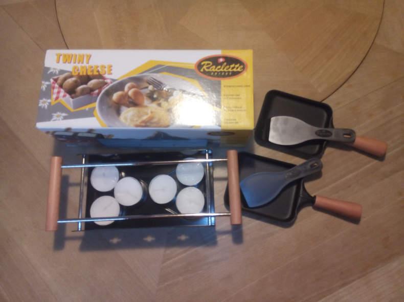 8890 Raclette-Ofen für 2 Personen Kerzen