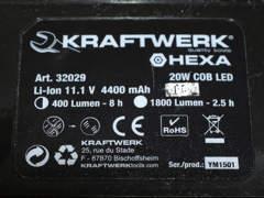 8942 Akku-LED-Strahler 20W (Bau-Lampe)