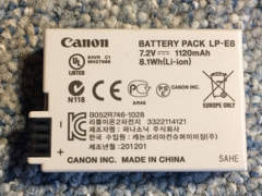 9081 Zusatzakku für Canon Kameras