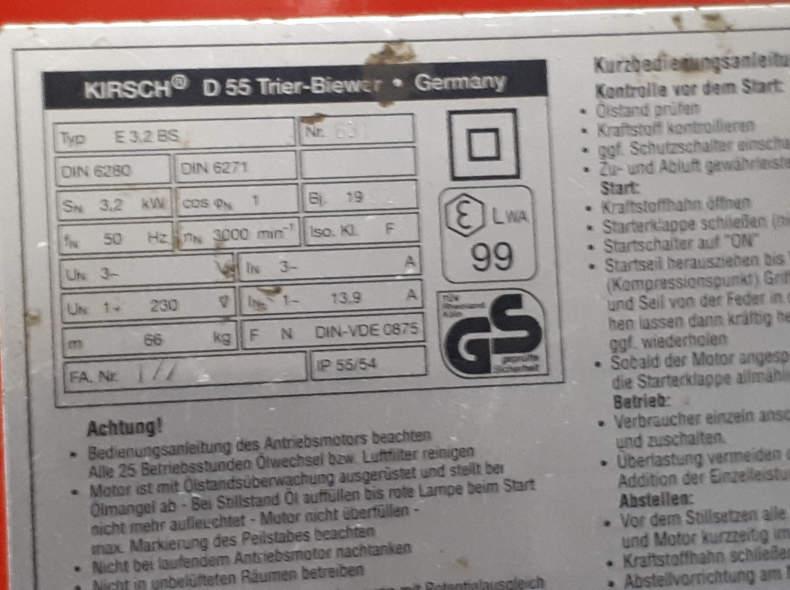 9406 Generator Kirsch 230V 3.2kW