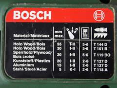 9525 Stichsäge Bosch, Sägetisch