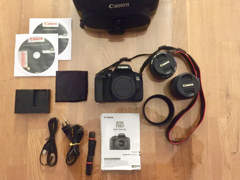 9770 Canon EOS 750d Set inkl. Tasche