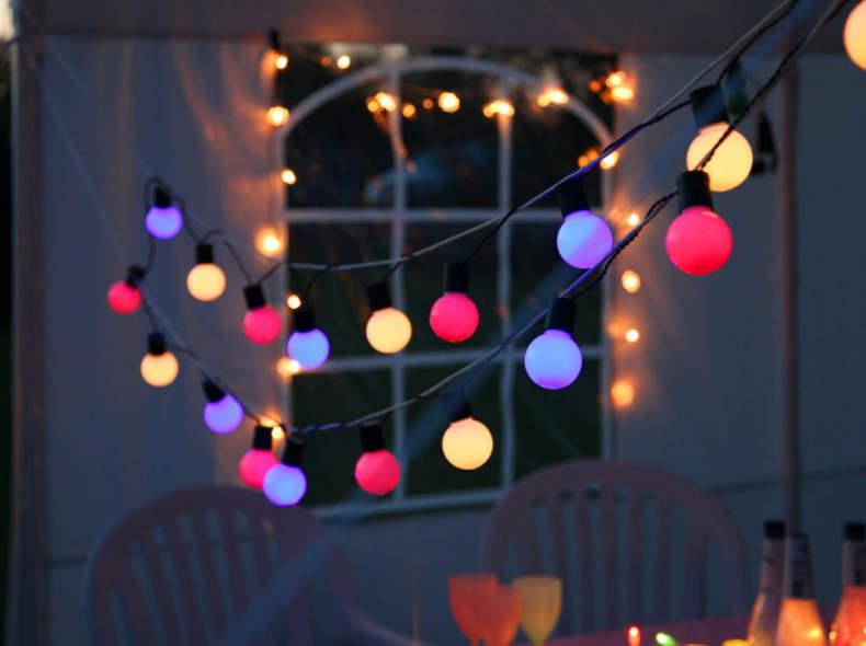 10022 Party-Lichterkette farbig 1x15m