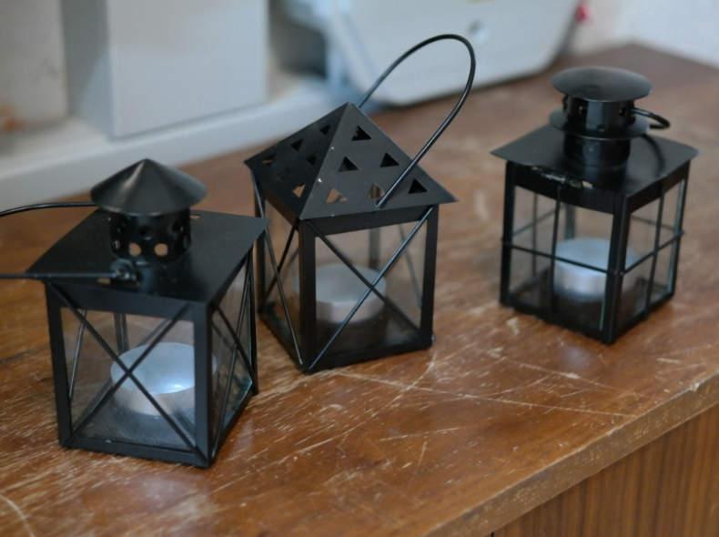 11652 15 kleine Metalllaternen