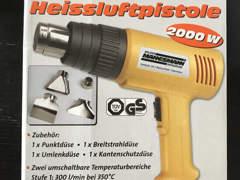 12172 Heissluftpistole mit Zubehör. 2000W