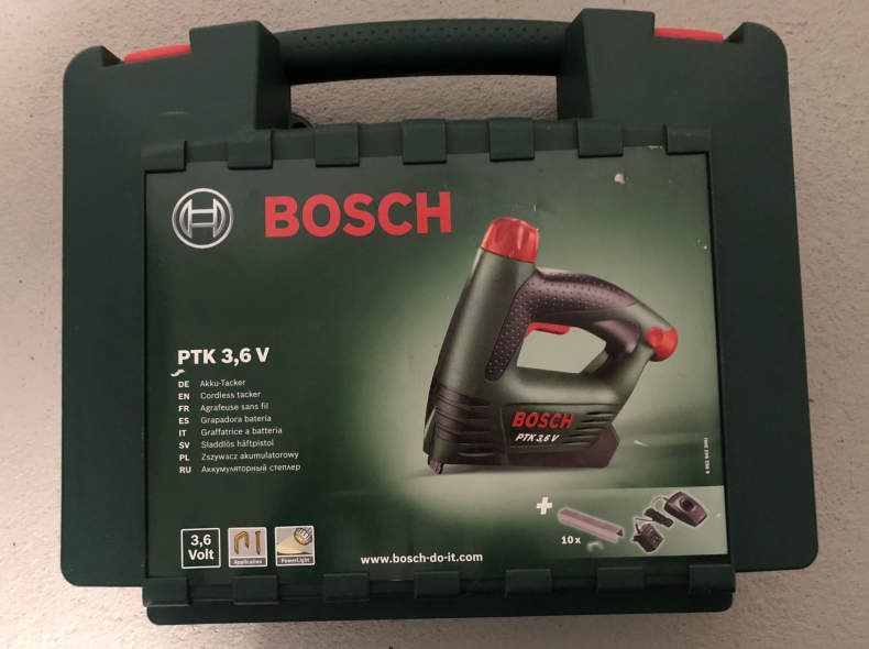12547 Akku-Tacker Bosch PTK 3.6V