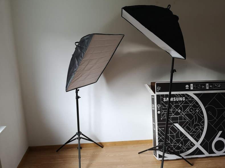 13167 2 x LED Softbox für Fotostudio